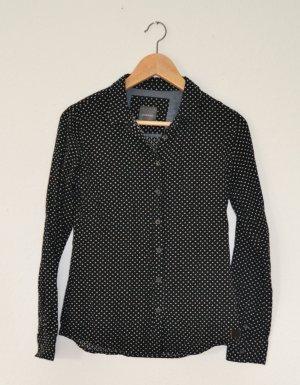 gsus sindustries - leichte Baumwollbluse/Hemd, schwarz/weiß, Gr. S
