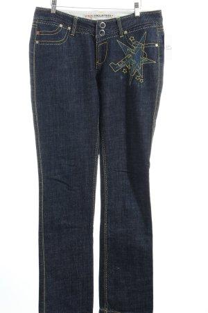 Gsus Straight-Leg Jeans dunkelblau Casual-Look
