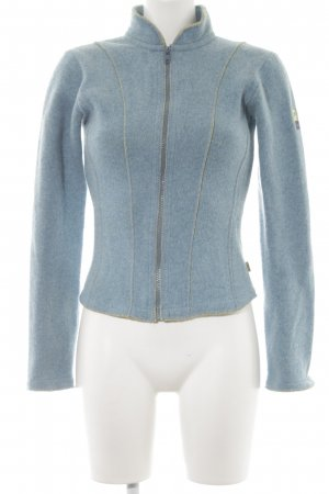 Gsus Wolljacke kornblumenblau-gelb Street-Fashion-Look