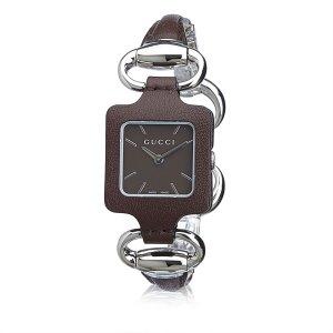 Gucci Watch dark brown stainless steel