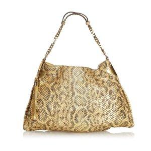 Gucci 1970 Python Chain Tote Bag