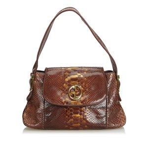 Gucci 1973 Python Leather Shoulder Bag