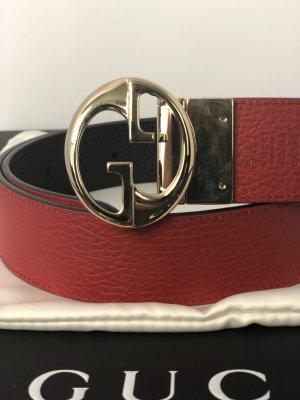Gucci Ceinture doubles noir-rouge foncé