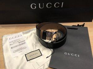 Gucci Dubbele riem zwart-donkerbruin