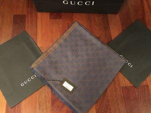 Gucci Woolen Scarf brown-dark blue