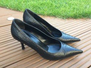 Gucci 38 c Pumps Schuhe schwarz guccissima