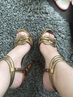 Gucci High Heel Sandal gold-colored-bronze-colored