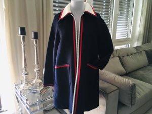 Gucci Abrigo corto azul oscuro-rojo ladrillo