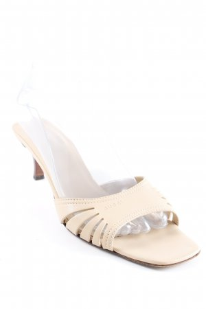 Gucci Heel Pantolettes cream-brown elegant