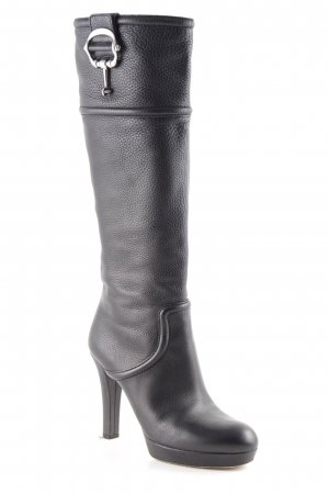 Gucci Absatz Stiefel schwarz Elegant