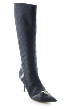 Gucci Stivale con tacco nero-talpa motivo grafico stile casual