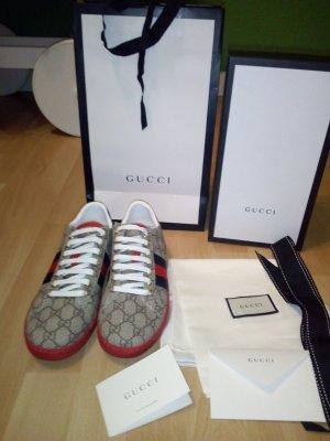 Gucci Sneaker con tacco marrone-rosso