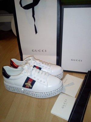Gucci Ace Sneaker Kristalle Plattform Damen