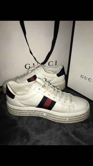 Gucci Ace Sneaker mit Kristallen Damen