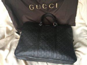 Gucci Briefcase dark brown leather