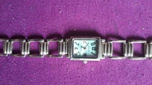 Gucci Horloge met metalen riempje wit-zilver