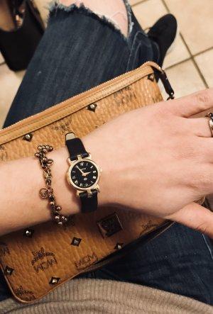 Gucci Armbanduhr für Frauen / Original / Gold mit braunem Leder-Armband
