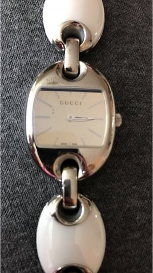 Gucci Armbanduhr Silber weiß - Original Gucci Uhr