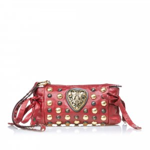 Gucci Babouska Hysteria Leather Clutch Bag