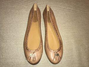 Gucci Ballerina 41 braun neu Loafer Flats Leder