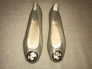 Gucci Ballerina 41 neu Loafer Flats Leder