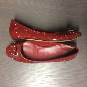 Gucci Patent Leather Ballerinas dark red-red