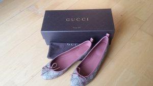 Gucci Ballerinas beige-dusky pink leather