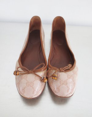 Gucci Patent Leather Ballerinas light pink leather