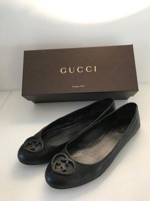 Gucci Ballerinas with Toecap black leather