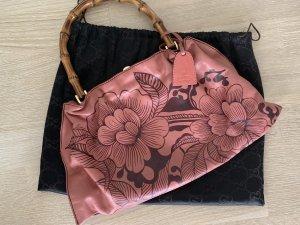 Gucci Bamboo Bag Vintage Bambus rosa Gold Blumen Floral