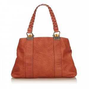 Gucci Bamboo Bar Leather Handbag