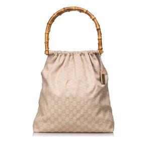 Gucci Bamboo GG Jacquard Handbag