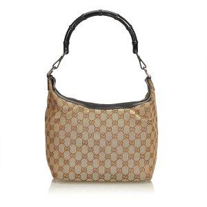 Gucci Bamboo Jacquard Hobo Bag