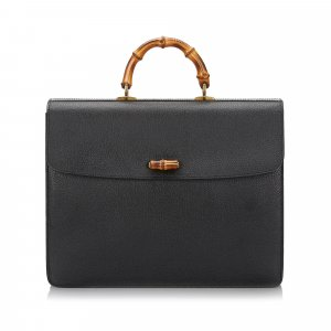 Gucci Bamboo Leather Briefcase