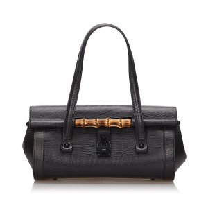 Gucci Bamboo Leather Bullet Shoulder Bag