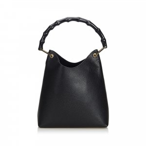 Gucci Bamboo Leather Handbag