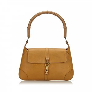 Gucci Bamboo Leather Jackie Shoulder Bag