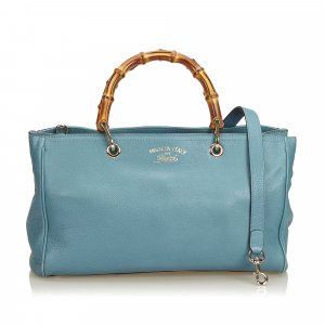 Gucci Satchel light blue leather
