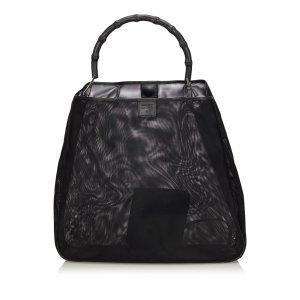 Gucci Bamboo Mesh Tote Bag