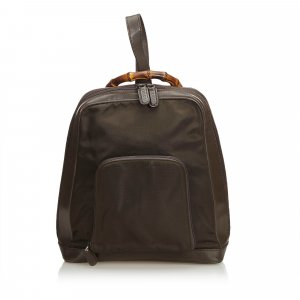 Gucci Backpack dark brown nylon