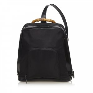 Gucci Bamboo Nylon Sling Backpack