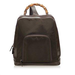 Gucci Bamboo Nylon Sling Backpack
