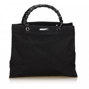 Gucci Bamboo Nylon Tote Bag