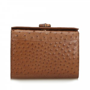 Gucci Clutch brown reptile leather