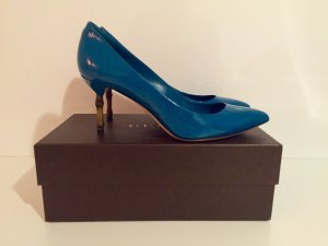 Gucci Bamboo Pumps aus Lackleder