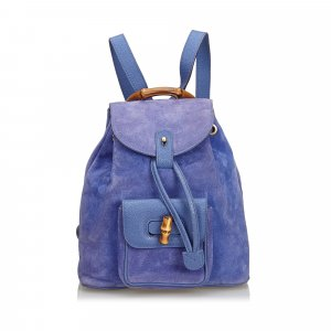 Gucci Backpack purple suede