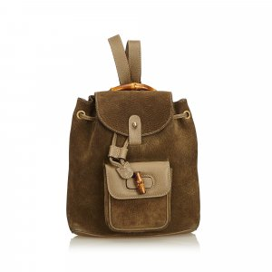 Gucci Backpack khaki suede