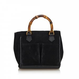 Gucci Bamboo Suede Handbag