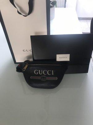 Gucci Marsupio nero-rosso scuro