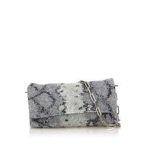 Gucci Sac porté épaule argenté tissu mixte